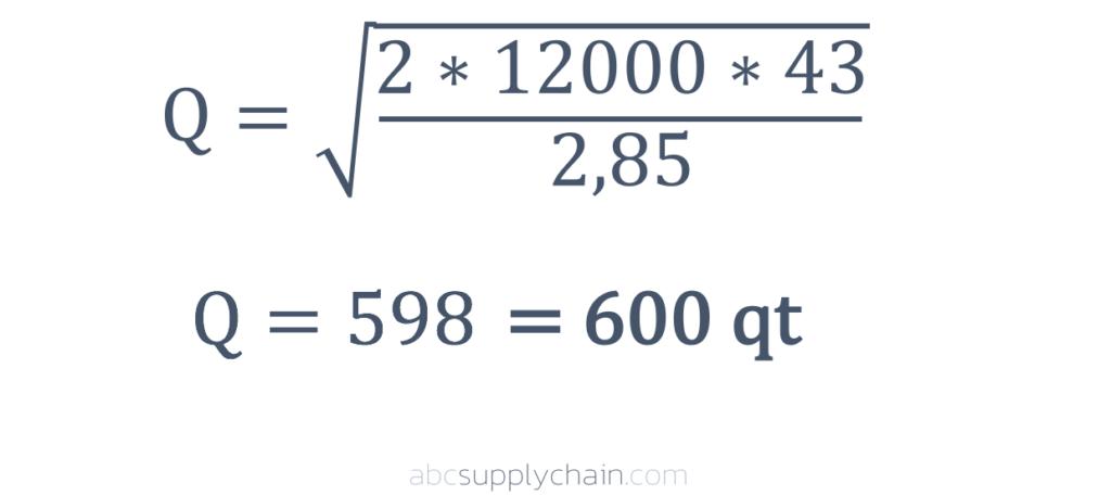 Formule Wilson Q Quantité Exemple