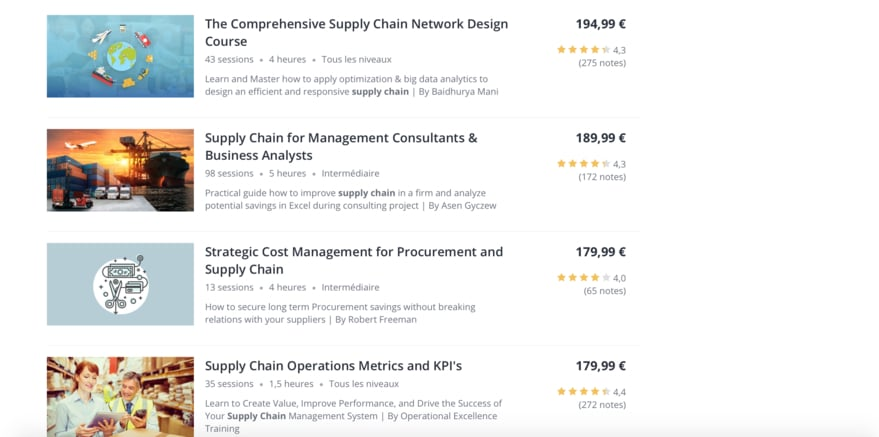 Formation Supply Chain Udemy