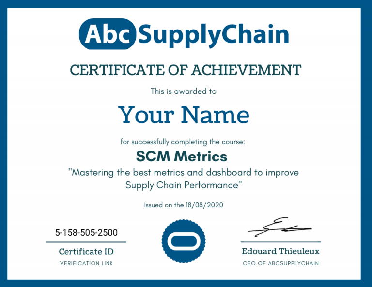 supply chain certificate online course